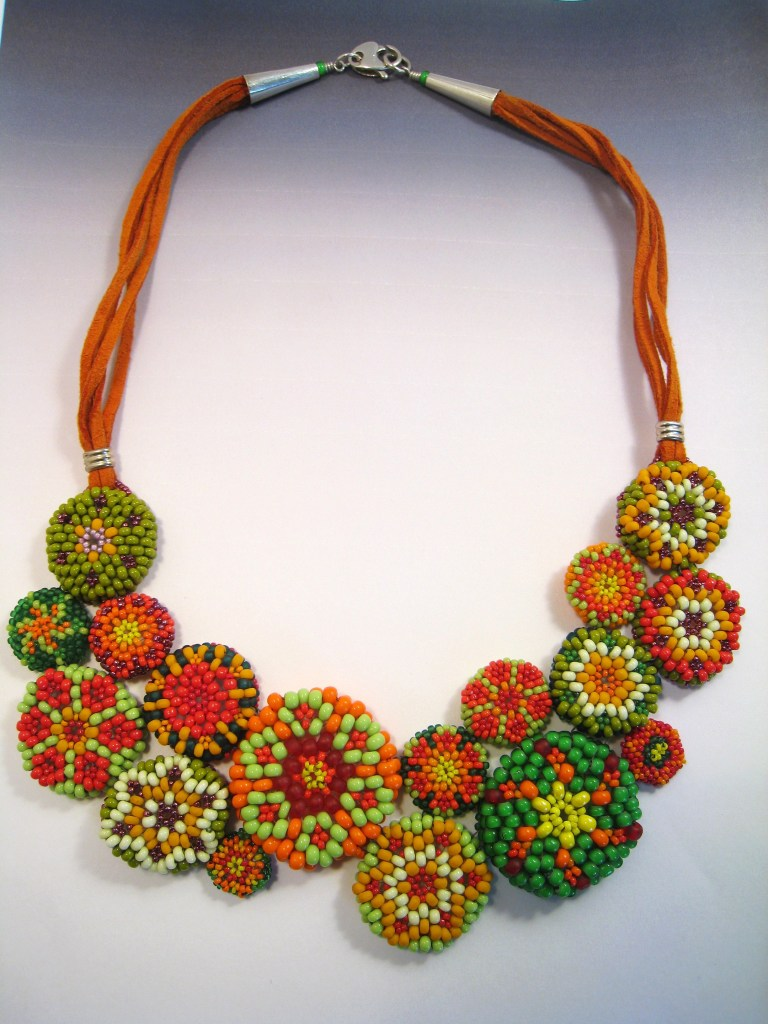 Jean Campbell - Peyote buttons necklace.