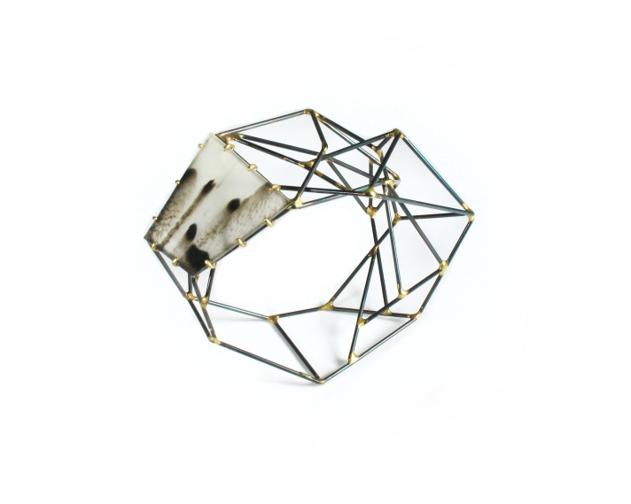 Sarah West Meridian Bracelet w_Marbled Vinyl